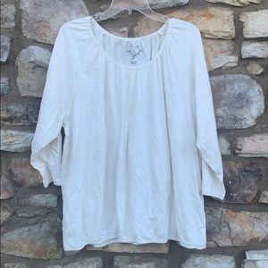 Sonoma cream long sleeve shirt 2X